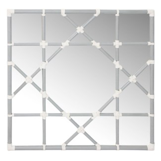 Octagonal Lattice Mirror - Grey