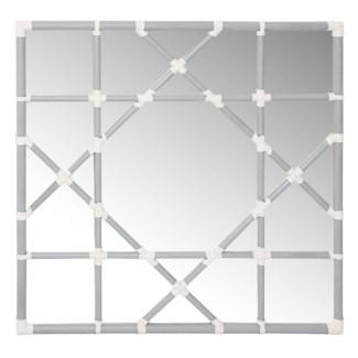 Octagonal Lattice Mirror - Grey