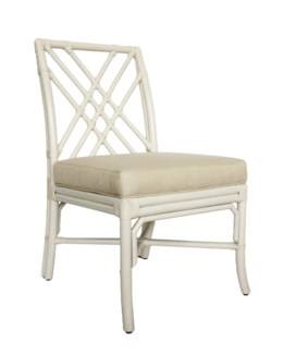 Florence Broadhurst Pagoda Side Chair, Winter White