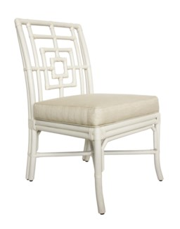 Florence Broadhurst Squares Side Chair, Winter White