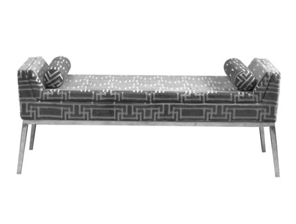 Shanghai Bed Bench - Yvans Geo (Charcoal)