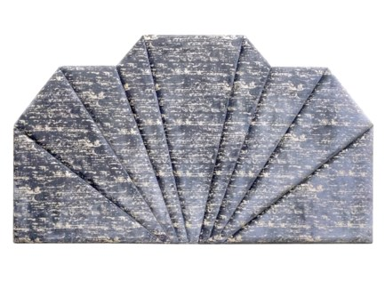 Shanghai King Headboard - Hessian Velvet (Charcoal)