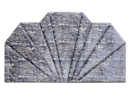 Shanghai King Headboard - Hessian Velvet (Charcoal)