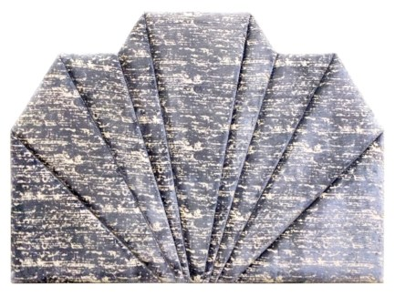 Shanghai Queen Headboard - Hessian Velvet (Charcoal)