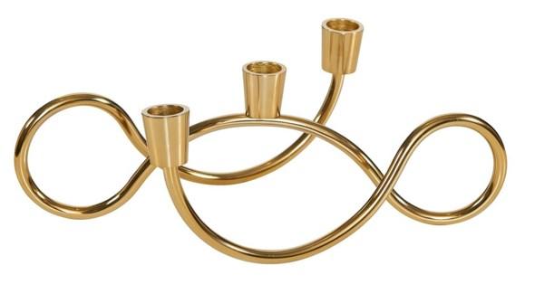 Curly Swirls Candelabra - Brass