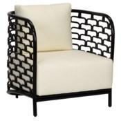 Sydney Mod Steps Barrel Chair - Black