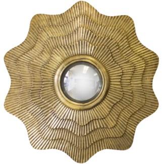Aubrey Clad Mirror - Gold