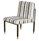 Sydney Dining Side Chair - Tortoise Fabric