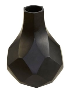 Diamonds Medium Vase - Black