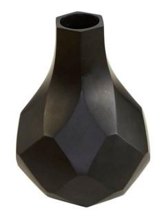 Diamonds Medium Vase - Black