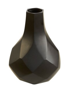 Sydney Mod DIAMONDS  tall vase black