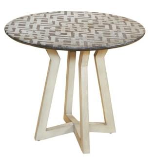 Zig Zag Marble Top Table - Black Stone