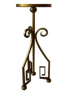 "Greek Key 9"" Martini Table - Gold"