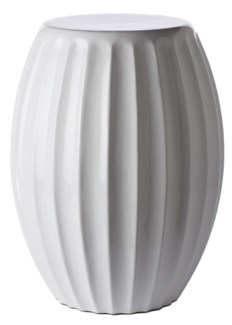 Gemma Lacquer Spot Table, Bead -White