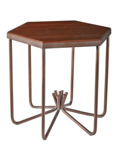 Henny End Table (Hex) - Bronze