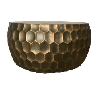 Hive Cocktail Table- Antique Brass