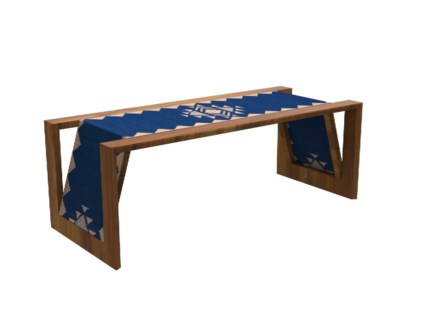Inverness Coffee Table - Blue