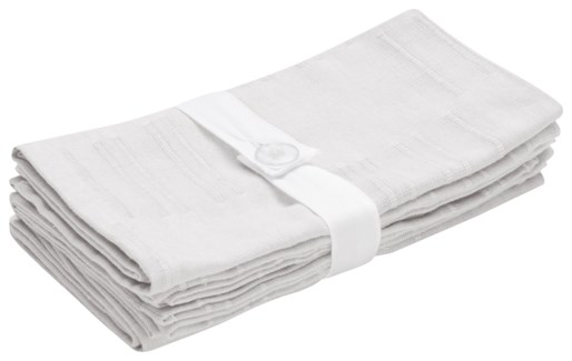 Rapee Jack White Napkin Set of 4 45cm