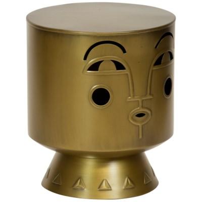 Justina Arthur Stool - Brass
