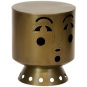 Justina Bette Stool - Brass