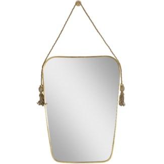 Justina Dorna Tassel Mirror - Brass