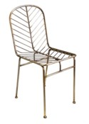Justina Jani Side Chair - Brass