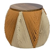 Justina Lala Round Stool - Natural