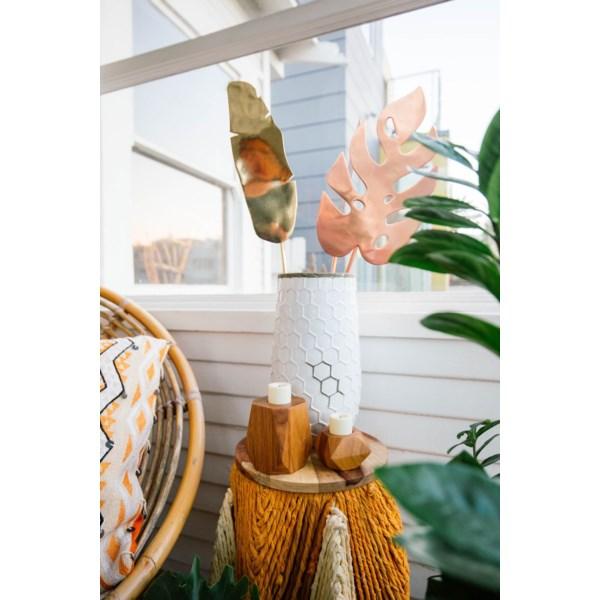 Justina Tilden Leaf - Brass