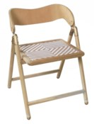 Justina Uttan Folding Chair - Natural