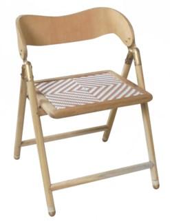 Justina Uttan Folding Chair - Natural