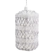 Justina Vela Cirrus Small Pendant - White
