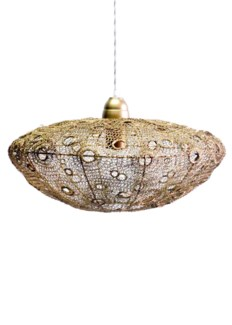 Vela Stratus Pendant - antique brass