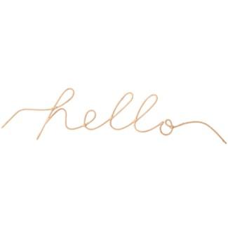 """""""Hello"""" Word Art"""