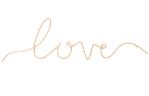 """Love"" Word Art, Sold as set of 5"