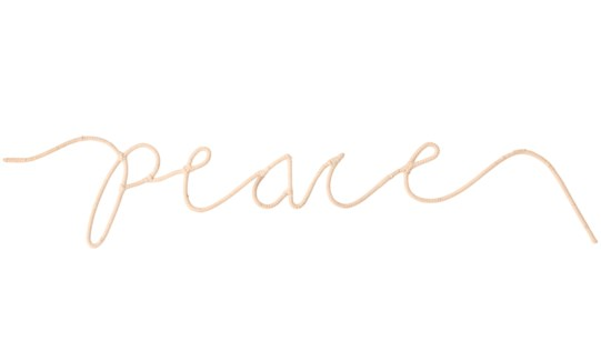 """Peace"" Word Art, Sold as set of 5"