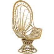 Justina Zahra Peacock Chair - Natural
