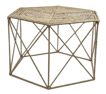 Jute Hexagonal Table