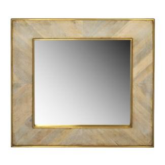 Justinian Square Mirror - White Wash