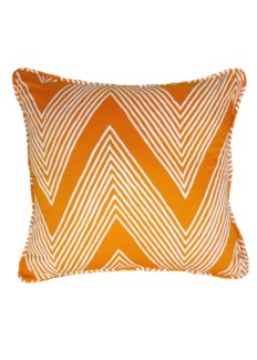 Bawa Pillow - White on Citrus