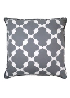 Haveli Pillow - White on Castle Grey