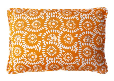 Layla Pillow - White on Citrus