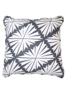 Palmyra Pillow  - White on Castle Grey