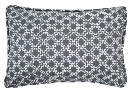 Roman Pillow - White on Castle Grey