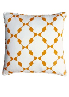 Trellis Pillow - Citrus on White