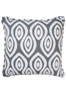 Turkish Eye Pillow - White on Castle Grey