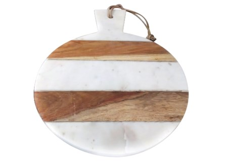 Kerry Round Board - White
