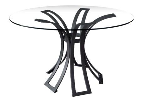 Klismos Wrought Iron Dining Table Base - Black Finish