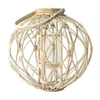 Libra Round Lantern - White Wash