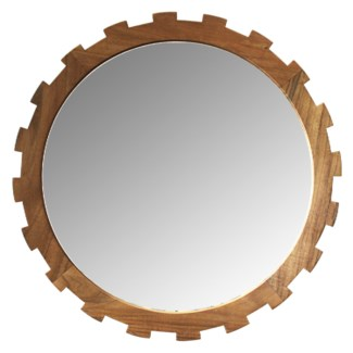 Master's Collection Large Gear Mirror - Teak