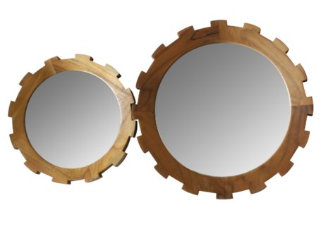 Master's Collection Set of Gear Mirrors (2) - Teak